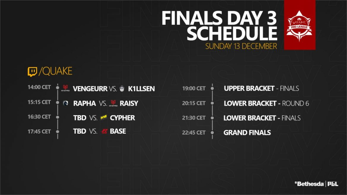 QPL Finals Day 3 Schedule