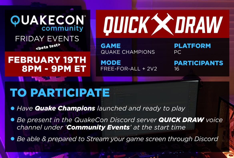 Quake Champions Quick Draw – Quakecon Community