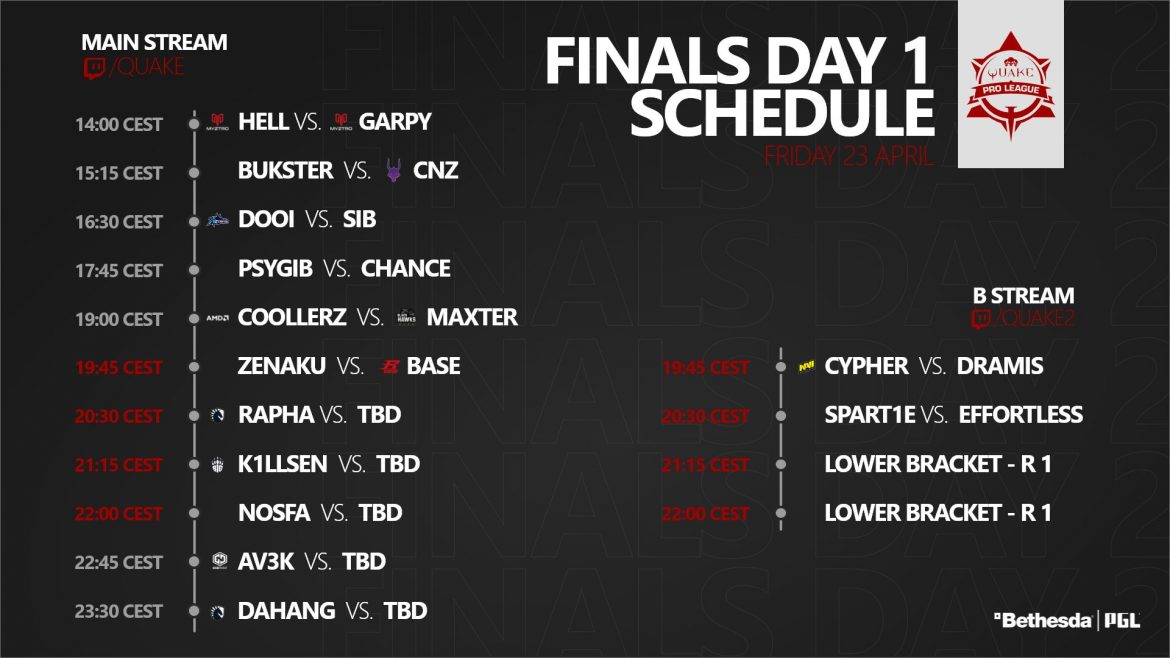 Watch #QuakeProLeague Season 2 stage 2 finals tomorrow!