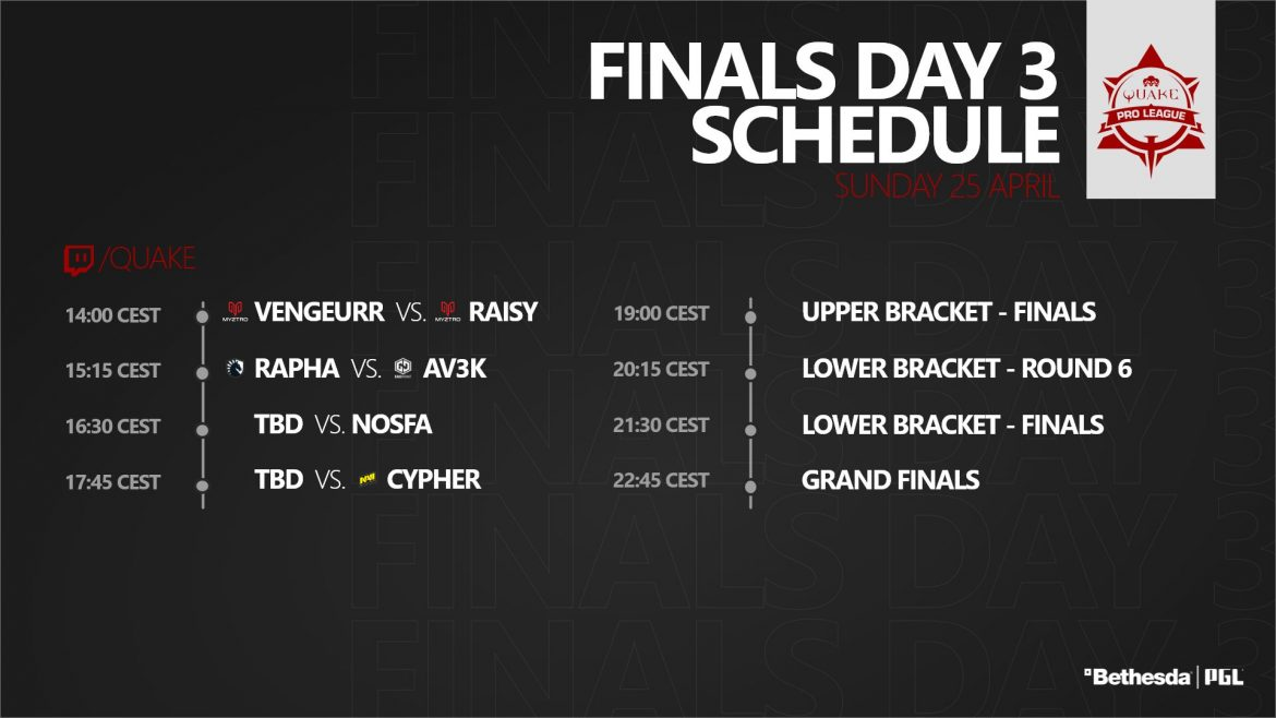 Watch #QuakeProLeague Season 2 stage 2 finals day 3!