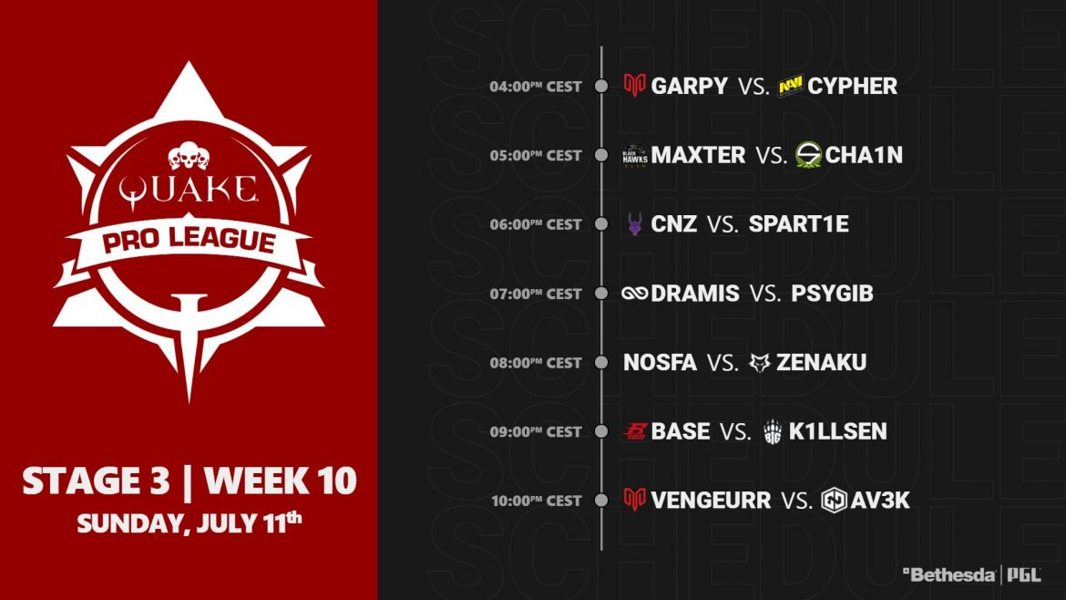 #QuakeProLeague Stage 3 Week 10