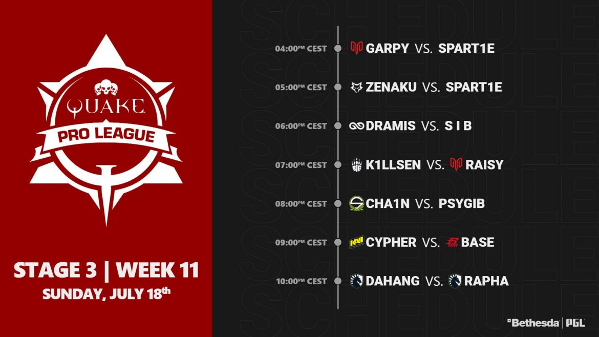 #QuakeProLeague Stage 3 Week 11