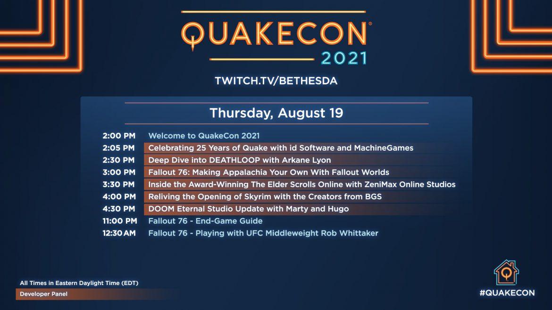 #QuakeCon 2021 25TH ANNIVISARY LIVE