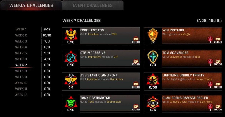 Season 11 Week 7 Challenges Live!