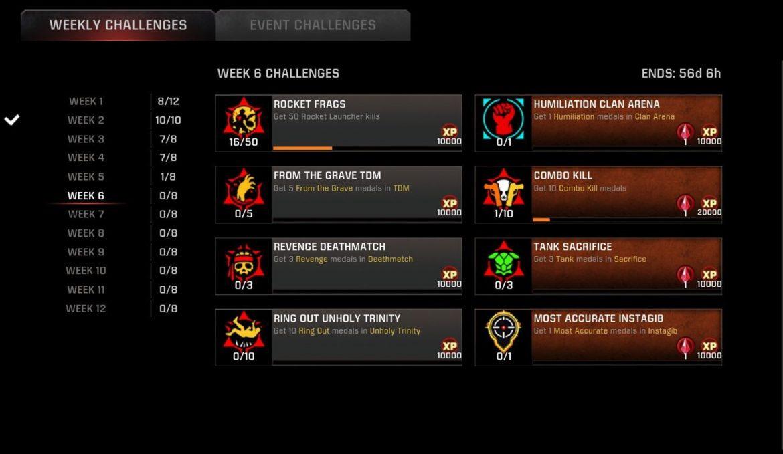 Season 11 Week 6 challenges live!