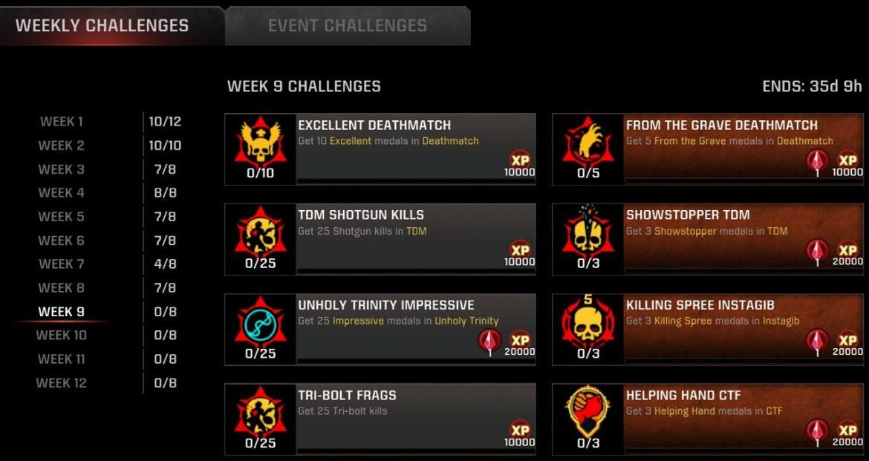 S11 W9 Challenges for #QuakeChampions Live TRI-BOLT MAYHEM!