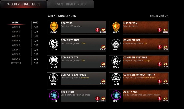 #QuakeChampions Season 12 Autumn 2021 Update | Week 1 Challenges Live + Patch Notes