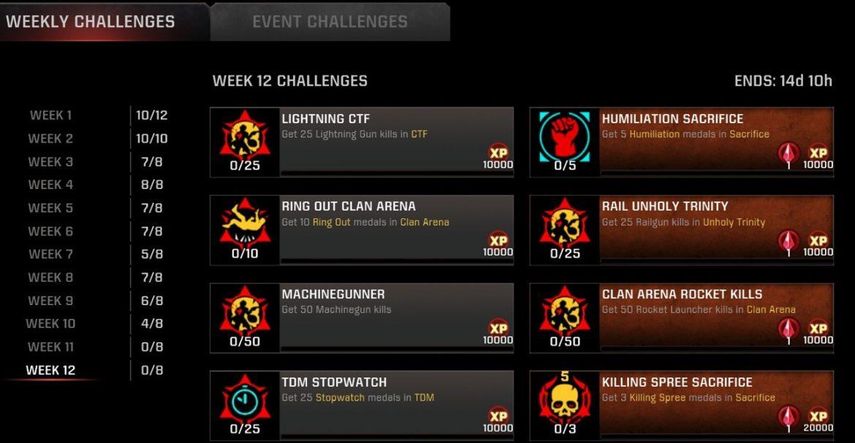 Season-11 Week-12 Challenges Live for #QuakeChampions