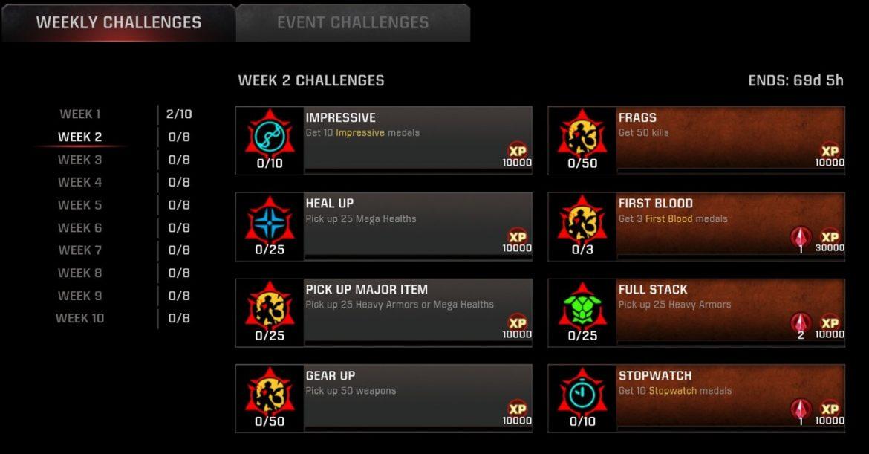Season-12 Week-2 Challenges Live for #QuakeChampions