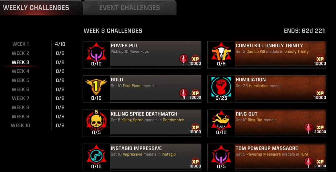 Season-12 Week-3 Challenges Live for #QuakeChmpions