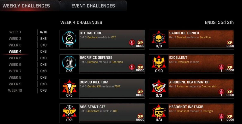 Season-12 Week-4 Challenges Live for #QuakeChampions